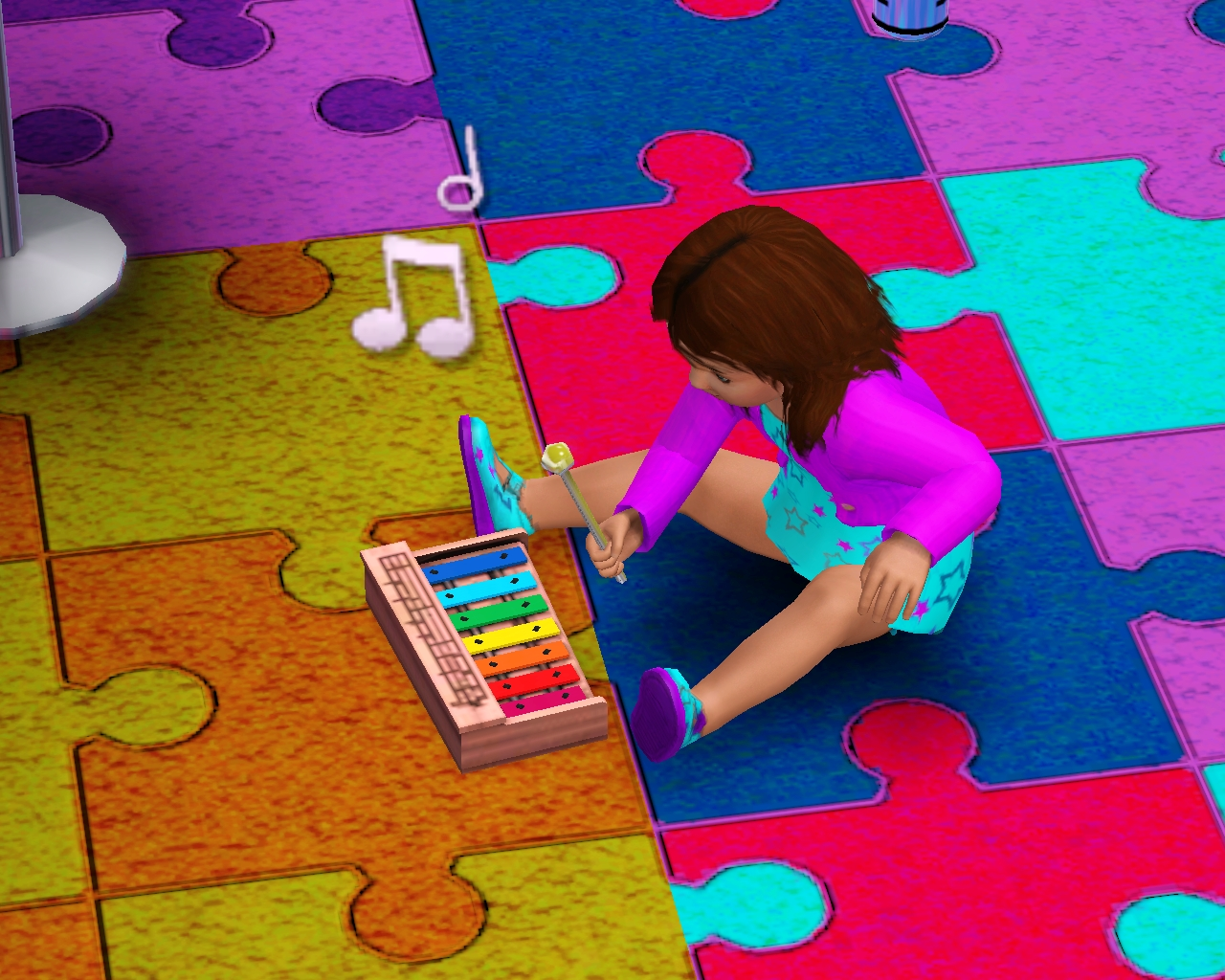 Baby playing with xylophone. Toddler   The Sims Wiki   Fandom powered by Wikia