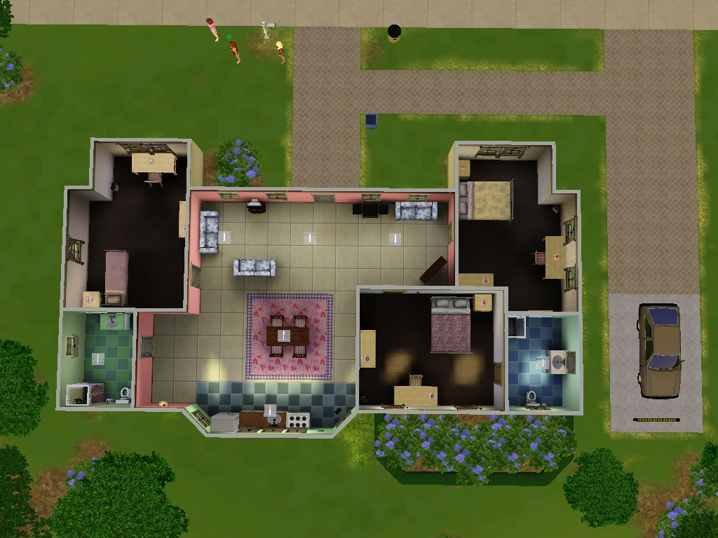 Imagem casa caliente ts3 planta jpg the sims wiki for Planos de casas sims