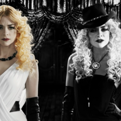 Wendy and Goldie in <i>Sin City: A Dame To Kill For</i>.