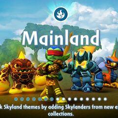 Los skylanders de fuego de Spyro`s Adventure en la pantalla de carga de Skylanders: Universe