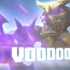 Voodood en su trailer