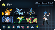 Pen's Pokemon Card