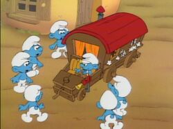 Smurf Wagon