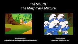 """The Smurfs - Goof from """"The Magnifying Mixture"""""""