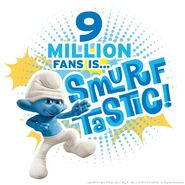 9 Million fans is SmurfTastic