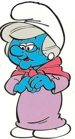 Nanny smurf in the comics