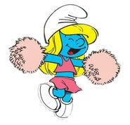 Smurfette cheerleader