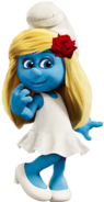 Smurfette with Rose