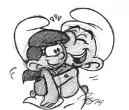 Hefty Hugging Moxette Sketch