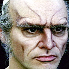 Jim Carrey transforming into Count Olaf