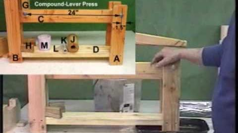 Small (Micro) Biomass Fuel Briquette Presses made from Wood