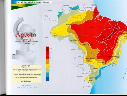 Brazil August insolation