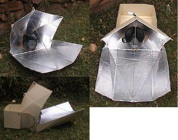 Pentagon Star solar cooker
