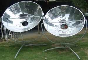 Olympus Flower solar cookers