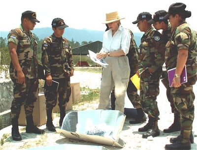 Patricia McArdle teaching Honduran soldiers 2008