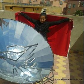 Solar cooker morocco by Lamia.