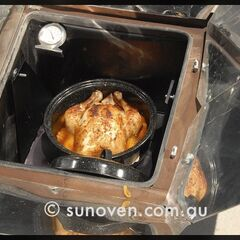 Solar Cooked Roast Chook!