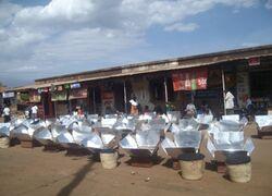 Widow solar cooking project Tanzania, 2013, 1-15-13