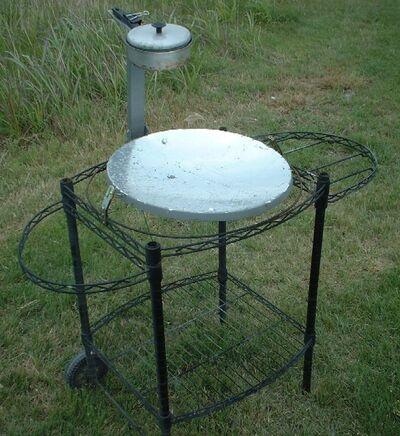 West's Parabolic Solar Canner Boiler Steamer cart 009