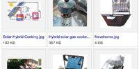 Hybrid solar cooker designs