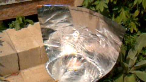 Aluminum Roasting pan solar cooker