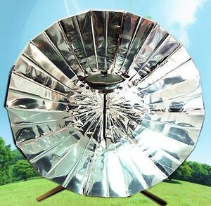 Solar Umbrella Cooker, 12-29-13