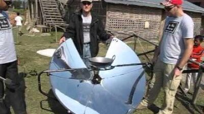 Solsource Solar Cooker at BTCV India School