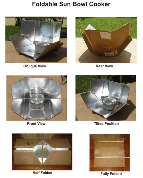 Foldable Sun Bowl Cooker (composite photo) 2-6-12