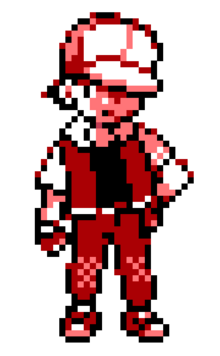 Pokemon trainer red sprite by jamesrayle-d49b1km