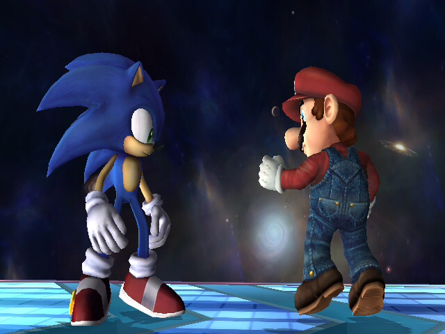File:SSBB sonic vs mario by ss2sonic.jpg