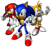 Sonic Heroes Artwork - Team Sonic
