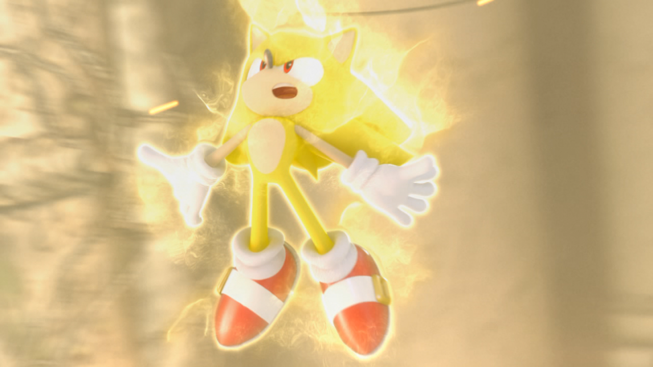 Super Knuckles vs Super Sonic Sonic Using Super