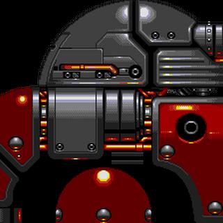 Vista de perfil del Kyodai Eggman Robo.