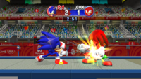 Fencing (Mario & Sonic 2008) Screenshot 1
