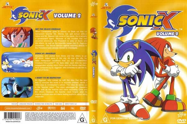 File:Sonic X Volume 2 AUS front cover.jpg