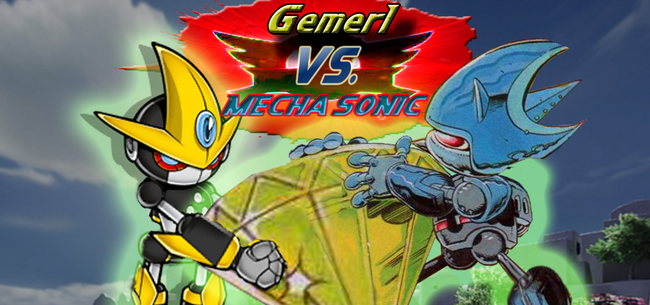Mecha-sonic-and-gemerl-fight