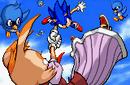 Sonic advance 2 ending artwork Sonic catches Vanilla