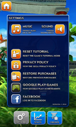 Sonic Dash Settings (Android)