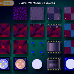 Texturas de plataformas de Red Snads.