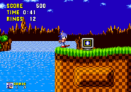 You could understand that I'm blue spinning hedgehog without shields