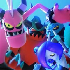 Los Deadly Six atacando en el trailer debut.