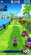 Sonic Dash Espio Gameplay