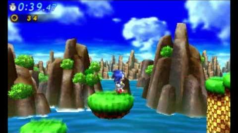 Sonic Generations 3DS - Classic Green Hill