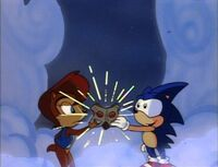 Sonic and Sally use the Time Stones