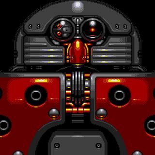 Vista de frente del Kyodai Eggman Robo con sus dedos.