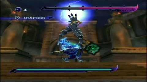 Sonic Unleashed Wii Boss 5 Dark Guardian (no damage, S-rank)