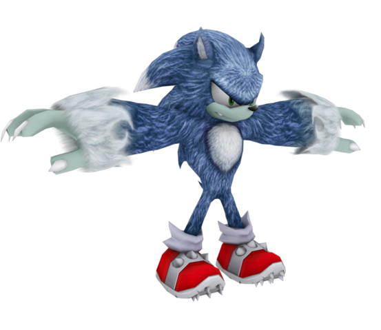 File:Sonic the Werehog model WiiPS2.png