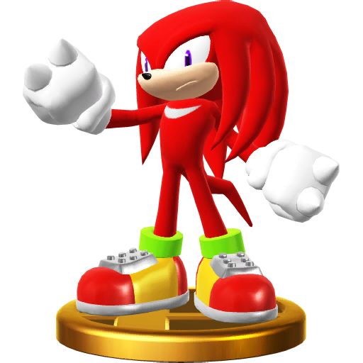 File:Knuckles trophy pose (Super Smash Bros. Wii U).png