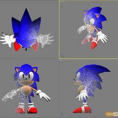 Concepto virtual de Sonic.