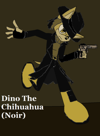 Dino the chihuahua noir by electrojolt67-d6dit6h